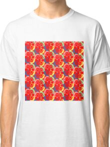 Audrey Red Pink Green Violet Yellow Classic T-Shirt