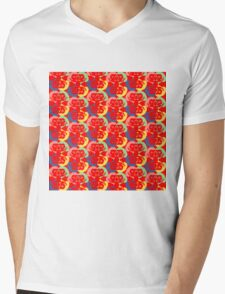 Audrey Red Pink Green Violet Yellow Mens V-Neck T-Shirt