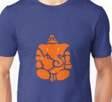 Orange Ganesha Elephant Deity Illustration Unisex T-Shirt