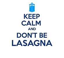 Doctor Who - Don't Be Lasagna by ashenwings