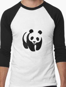 Panda animation Men's Baseball ¾ T-Shirt