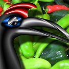 Long Neck Black Bird by GolemAura