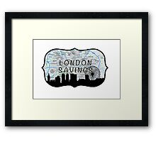 London Jar Framed Print