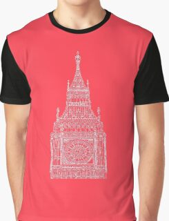 Big Ben In Red Graphic T-Shirt