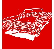 '64 Falcon Convertible - White Photographic Print