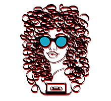 Music Tape Hair Photographic Print