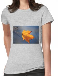 Golden maple leaf Womens Fitted T-Shirt