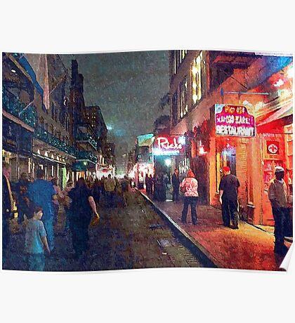 """Bourbon Street - New Orleans"" Poster"