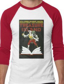 Vintage poster - Treasure Island Men's Baseball ¾ T-Shirt