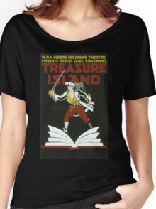 Vintage poster - Treasure Island Women's Relaxed Fit T-Shirt