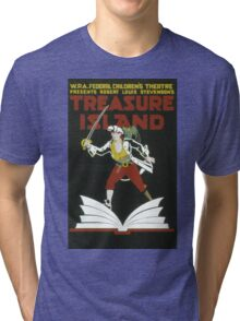 Vintage poster - Treasure Island Tri-blend T-Shirt