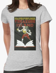 Vintage poster - Treasure Island Womens Fitted T-Shirt