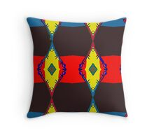 Strong red linear element in this repeat pattern. Throw Pillow
