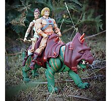 Masters of the Universe Classics - He-Man, Teela & Battle Cat Photographic Print