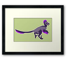 Grape Raptor Framed Print