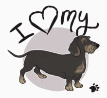 I Love My Wire Haired Dachshund One Piece - Short Sleeve