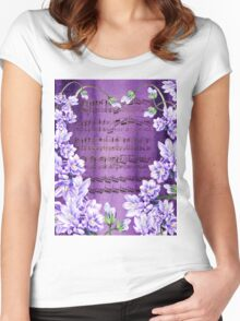 Waltz Of The Flowers In Purple Women's Fitted Scoop T-Shirt