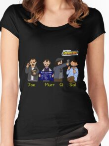 Cartoon Impractical Jokers Women's Fitted Scoop T-Shirt