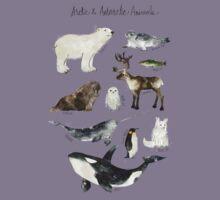 Arctic & Antarctic Animals Kids Tee