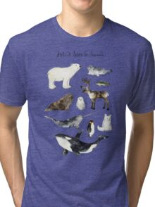 Arctic & Antarctic Animals Tri-blend T-Shirt