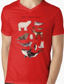 Arctic & Antarctic Animals Mens V-Neck T-Shirt