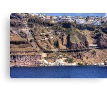 Cliffs of Santorini Canvas Print