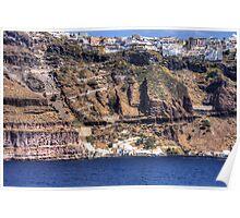 Cliffs of Santorini Poster