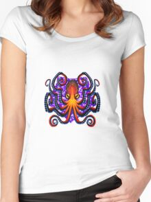 Rockin' the Octopus! Women's Fitted Scoop T-Shirt