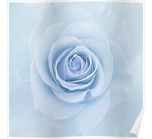 Soft Baby Blue Rose Abstract Poster