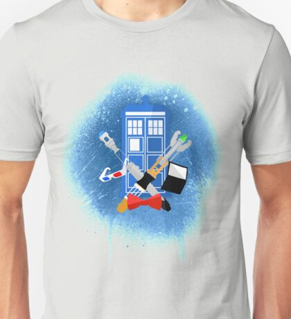 DOCTOR WHO - SPRAY PAINT DESIGN Unisex T-Shirt