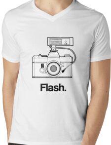 Camera Flash Mens V-Neck T-Shirt