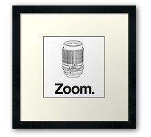 Zoom lens Framed Print