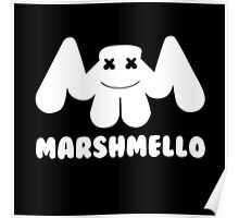 Marshmello | Logo | White | With Text Poster