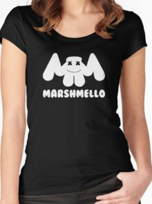 Marshmello | Logo | White | With Text Women's Fitted Scoop T-Shirt