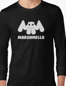 Marshmello | Logo | White | With Text Long Sleeve T-Shirt