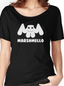 Marshmello | Logo | White | With Text Women's Relaxed Fit T-Shirt