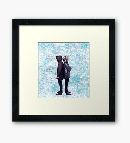 Dan & Phil | Blue petals Framed Print