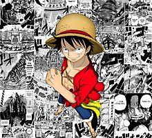 One Piece Luffy Collage by Cerberus-Spyder