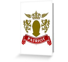 Knight Patriot Greeting Card