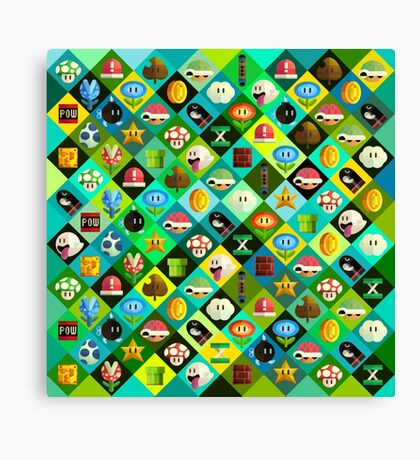 Mario Collage Canvas Print
