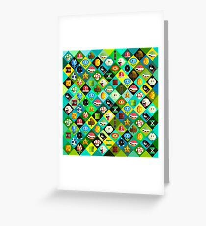Mario Collage Greeting Card