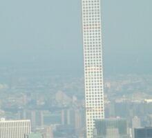 Aerial View, Midtown Manhattan, Empire State Building, 432 Park Avenue, One World Observatory, World Trade Center Observation Deck, Lower Manhattan, New York City Sticker