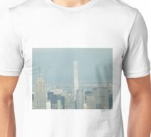 Aerial View, Midtown Manhattan, Empire State Building, 432 Park Avenue, One World Observatory, World Trade Center Observation Deck, Lower Manhattan, New York City Unisex T-Shirt