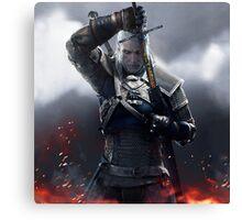 The Witcher 3 WILD HUNT - Geralt of rivia Canvas Print