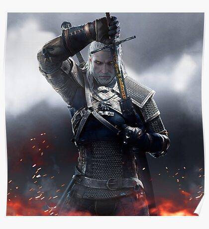 The Witcher 3 WILD HUNT - Geralt of rivia Poster