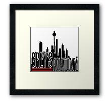 Seattle Skylines Framed Print