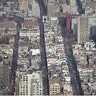 Aerial View, Greenwich Village, One World Observatory, World Trade Center Observation Deck, Lower Manhattan, New York City by lenspiro