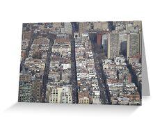 Aerial View, Greenwich Village, One World Observatory, World Trade Center Observation Deck, Lower Manhattan, New York City Greeting Card