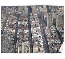 Aerial View, Greenwich Village, One World Observatory, World Trade Center Observation Deck, Lower Manhattan, New York City Poster