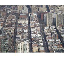 Aerial View, Greenwich Village, One World Observatory, World Trade Center Observation Deck, Lower Manhattan, New York City Photographic Print